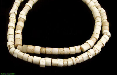 White Goomba Porcelain Trade Beads African