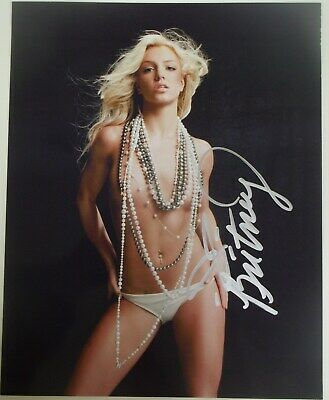 """Britney Spears Signed Photo  """"beads & Panties Only!!!"""""""