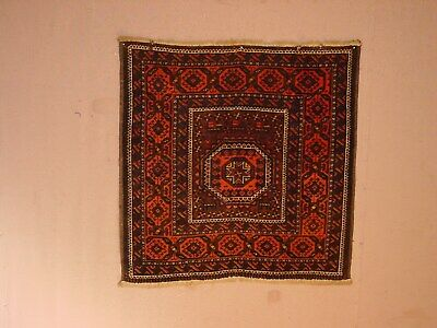 GREAT ANTIQUE MESHED BALOUDSJ SMAll square rug ***HG**