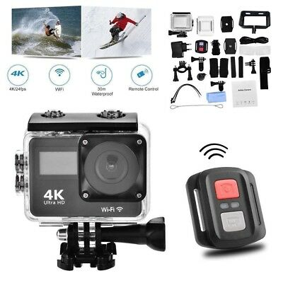 Camcorder DV Ultra HD 4K 1080P Wifi Action Sport Camera Waterproof Helmet Bike