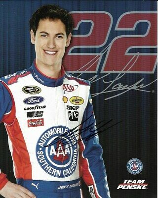 2014 Joey Logano Shell Pennzoil AAA NASCAR Signed Auto 8x10 Round Post Hero Card