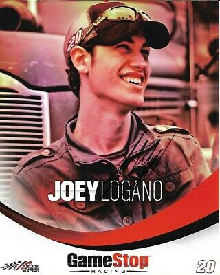 2012 Joey Logano Shell Pennzoil Game Stop Signed Auto 8x10 Round Post Hero Card