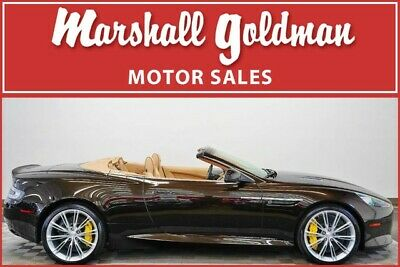 2014 Aston Martin DB9  2014 Aston Martin DB9 Volante in Marron Black over Sandstorm 23,900 miles