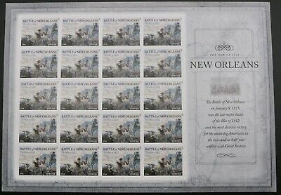#4952 War Of 1812 Battle Of New Orleans 20 Forever Stamp Sheet 2014 Mint Mnh