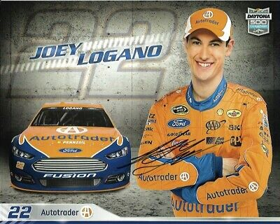 2016 Joey Logano Shell Pennzoil Autotrader Signed Auto 8x10 Round Post Hero Card