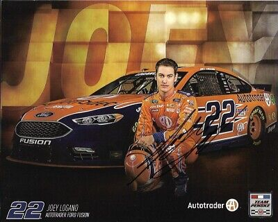 2016 Joey Logano Shell Pennzoil Autotrader Signed Auto 8x10 Post Hero Card