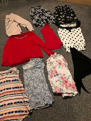 Lovely large bundle of ladies tops and cardigan size 14 lots of Newlook