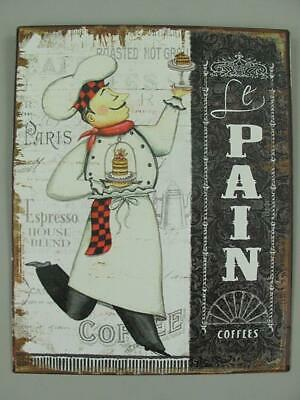 Metal Sign,Advertisement Sign,le Pain the Bread,Kitchen Wall Sign 9 13/16x7