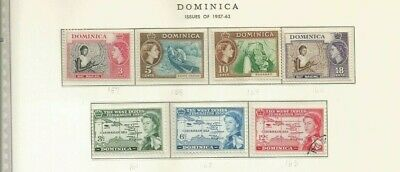Dominica Scott 257-60 And 261-3 Mh