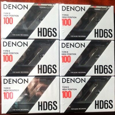 CASSETTE TAPES BLANK SEALED - 6 x (six) DENON HD6S 100 [1990-91] - MADE IN JAPAN