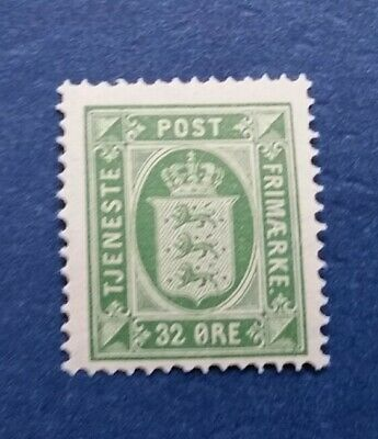 Denmark Stamp, Scott O9 Mint and Hinged