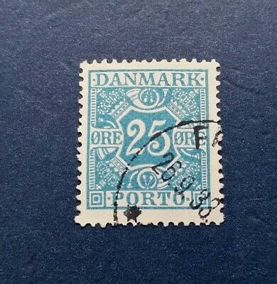 Denmark Stamp, Scott J21 Used and Hinged
