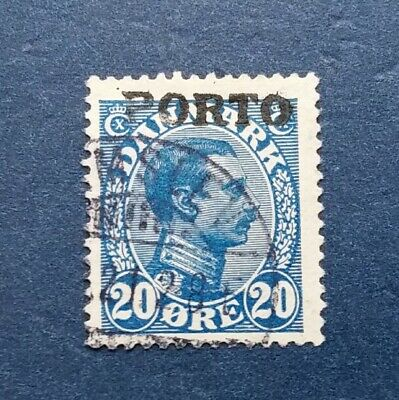Denmark Stamp, Scott J5 Used and Hinged