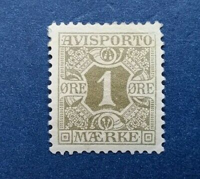 Denmark Stamp, Scott P1 Mint and Hinged
