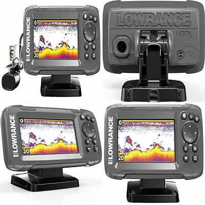 """HOOK2 4X 4"""" Fish Finder W Bullet Skimmer Transducer FREE SHIPPING GRAY ONE SIZE"""