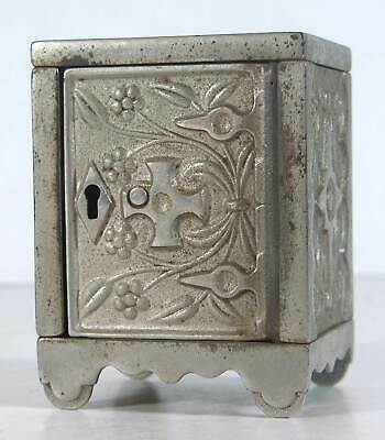1897 CAST IRON FLOOR SAFE FIGURAL STILL BANK - KEY LOCK SAFE 50 By J. E. STEVENS