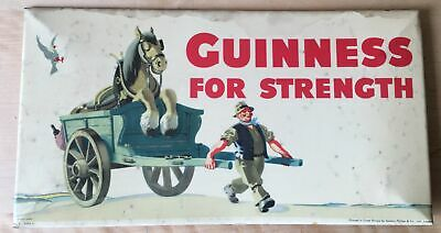 genuine vintage GUINNESS FOR STRENGTH J GILROY POS advertising SIGN CARD 868C