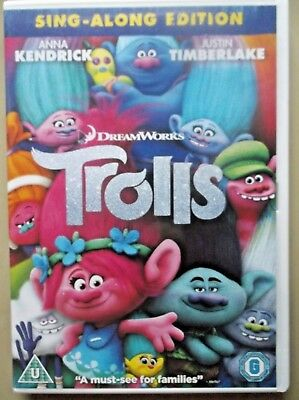 TROLLS - SING-ALONG EDITION - Voices of Anna Kendrick/Justin Timberlake  -  DVD