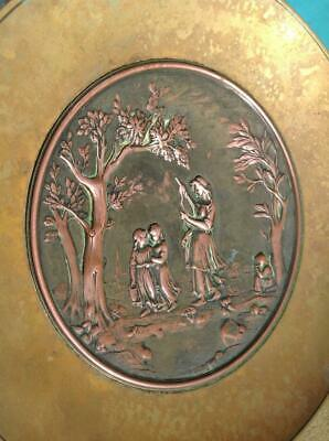 Antique French Signed 'A Paris' Bronze & Repousse Copper Display Dish 19th/20thC