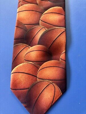 Basketballs Collage Novelty Ralph Marlin March Madness & Nba Hoops Necktie