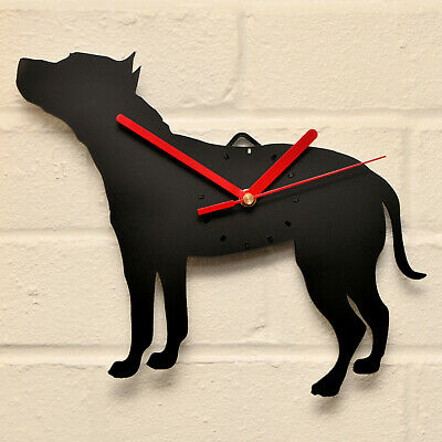 BLACK AMERICAN STAFFORDSHIRE Shaped Modern Wall Clock Bedroom Home Decor Gift