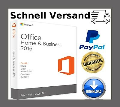 Office 2016 Home and Business key✔1PC ✔32 / 64 Bits ✔Sofort versand per Email