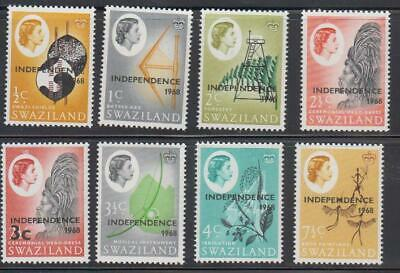 Swaziland Stamps Sc#143-149/151 Independence 1968 Partial Set Mint Never Hinged