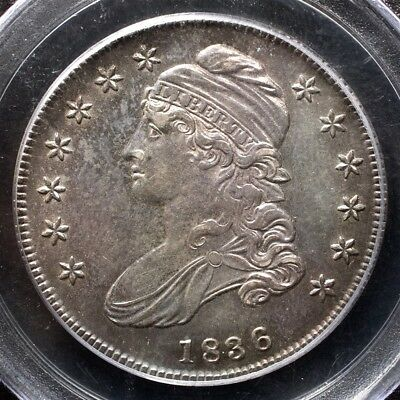 1836 Capped Bust Half Dollar, Overton O-101 - PCGS AU55 - Lettered Edge Variety
