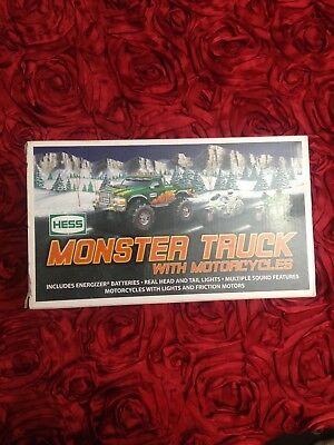 Hess Monster Truck w/motorcycles 2007 New In Box