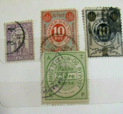 Denmark Bypost Stamps  Used