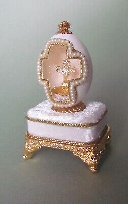"""Authentic Pigeon Egg /"""" Lavender and lace /"""" musical  jewel box   40519"""