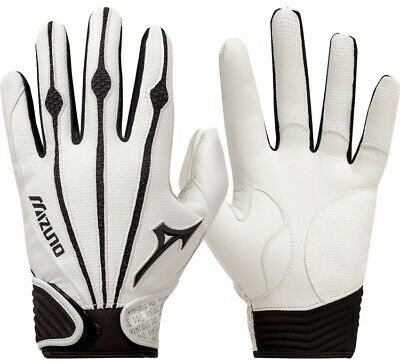 1 Pair Mizuno 330286 Vintage Pro Small White Adult Batting Gloves New In Wrapper