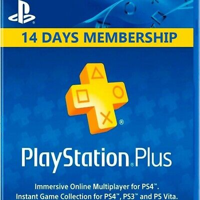 playstation plus 14 days psn (almost instantly) (no code) (ps4-ps3-ps vita)