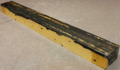 Black And White Ebony Blank, Guitar Fingerboard, Etc..black Spots! (Bwe534)