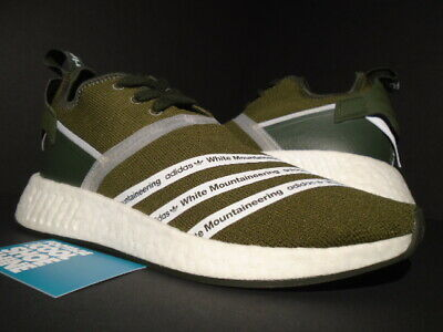sports shoes 0faba ea026 Adidas Wm Nmd R2 Pk Sample White Mountaineering Trace Olive Green Cg3649  New 9