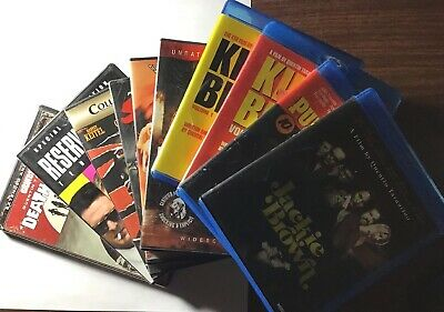 10 Quentin Tarantino DVD/Blu-ray Lot: Collection Pre-Owned Great Condition