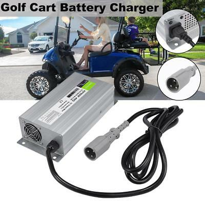 48V 15A Automatic For Yamaha Club Car Golf Cart Battery Charger Round 3 Pin PLUG