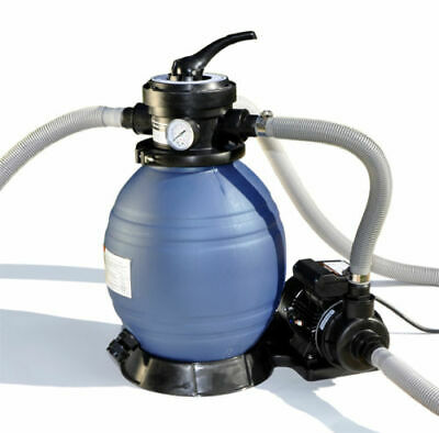 """Sand Master Above Ground Swimming Pool 12"""" Sand Filter with Pump for Intex 2"""
