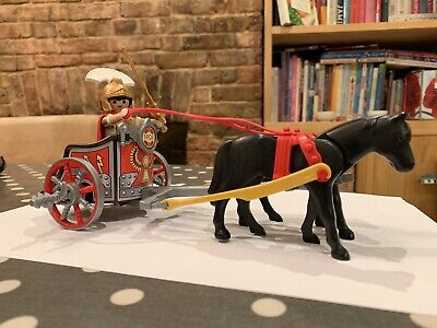 Playmobil 5391 Roman Chariot. Used ex cond. Emperor plus 5 extra soldiers