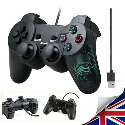 Hot PC USB2.0 Wired Game Controller Gamepad Joypad Fit For Laptop Computer Black