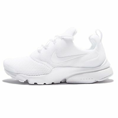 designer fashion 14875 12ac1 Women Nike Presto Fly Shoes 910569 101 White, Size WOMEN 10   MEN 8.5