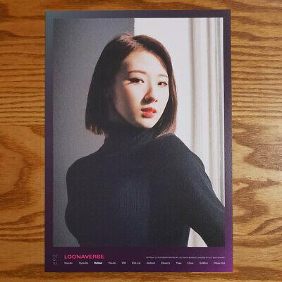 Haseul Loonaverse Concert Official MD Loona Mini Poster Monthly Girl Kpop
