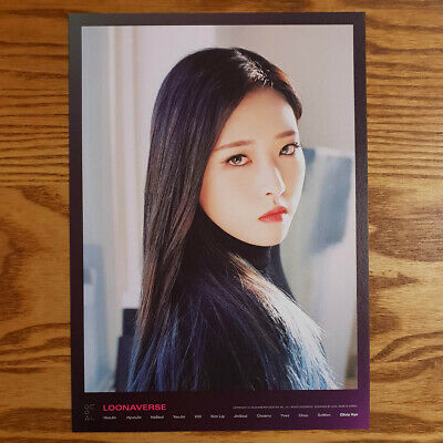 Olivia Hye Loonaverse Concert Official MD Loona Mini Poster Monthly Girl Kpop