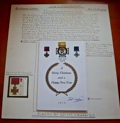Unique - Corporal Joshua Mark Leakey Vc Signed 2014 Christmas Card