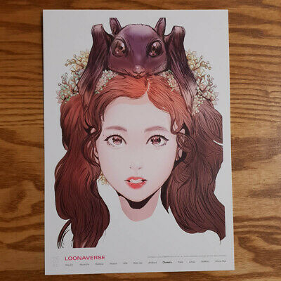 Cheorry Loonaverse Concert Official MD Loona Illust Poster Monthly Girl Kpop