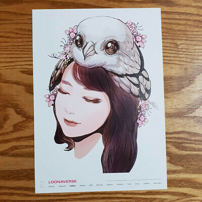 Haseul Loonaverse Concert Official MD Loona Illust Poster Monthly Girl Kpop