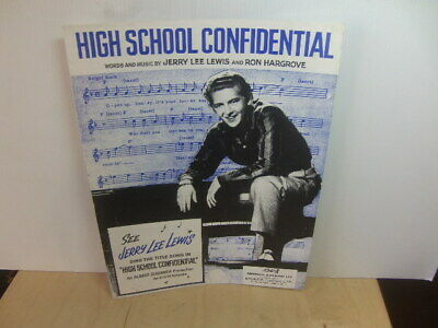 Jerry Lee Lewis – High School Confidential 1958 UK Music Sheet