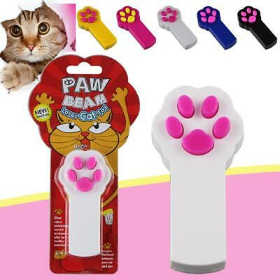 Cat LED Light Laser Pointer Paw Pattern Pet Cat Teaser Play Toy WST 01