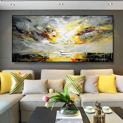"""SS009 Large Hand-painted Abstract landscape oil painting on canvas Unframed 48"""""""