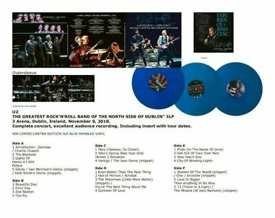 "U2 ""The greatest rock n'roll band of the north side of Dublin"" 3LP - blue vinyl"